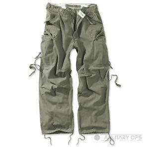 Surplus-Raw-Vintage-uniforme-pantalones-de-carga-de-combate-Pantalones-Verde-Oliva