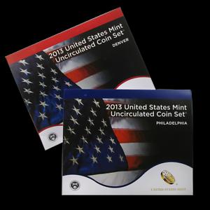 Fresh-2013-P-amp-D-U-S-MINT-UNCIRCULATED-SET-28-COIN-SET