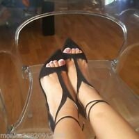 ZARA BLACK LEATHER HIGH HEEL SANDALS SHOES SIZE UK 3,4,5,6,7,8 NEW WITH BOX