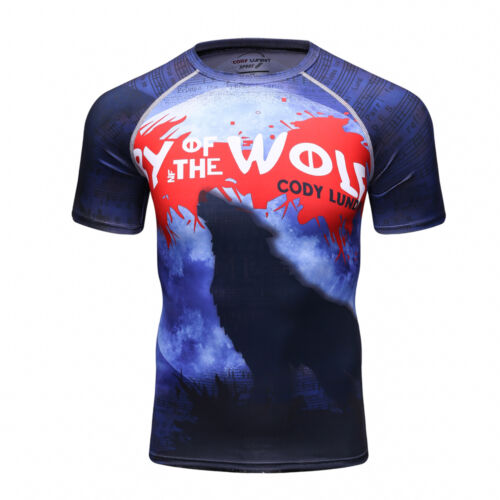 CT175 Compression Shirt Top Base layer Pattern Short Sleeve For Sports Fashion