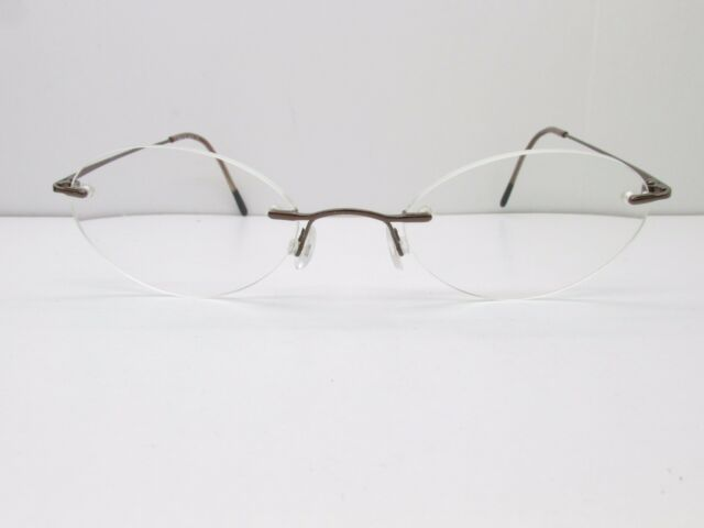 Marchon Airlock 2 760/4 Eyeglasses Frames 49-21-135 Brown Oval ...