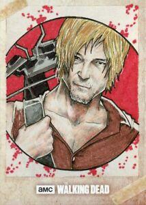 Topps Walking Dead Evolution Sketch Card - NORVIEN BASIO - DARYL DIXON