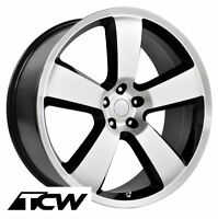 20 Inch Dodge Charger Srt8 Oe Replica Machined Black Wheels Rims Chrysler 300