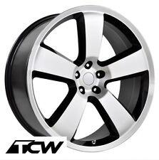 (4) 22 inch 22x9 Dodge Charger SRT8 OE Replica Machined Black Wheels Rims 5x115