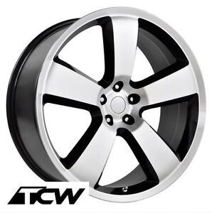 22 Inch Dodge Charger Srt8 Oe Replica Machined Black