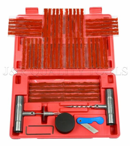 57 Piece Tire Repair Tools Kit Plug Flat And Punctured Tires For Motorcycle Atv Adottare La Tecnologia Avanzata