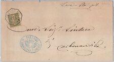 ITALIA REGNO:   LETTERA con annullo di collettoria di Borgofranco sul Po 1884