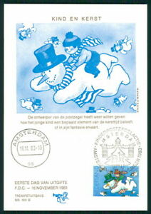 à Condition De Pays-bas Mk 1983 Voor Het Enfant Noël Christmas Maximum Carte Mc Cm Ek55-afficher Le Titre D'origine Convient Aux Hommes Et Aux Femmes De Tous âGes En Toutes Saisons