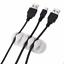 Cable Black//White Organizer Desktop Clip Cord Management Headphone Wire Holder