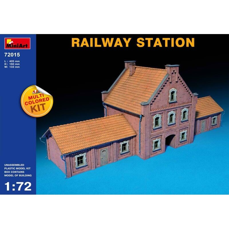 Minikonst 72015 Järnvägsstation Multi Färgöd Kit, WWII militär- Diorama 1  72