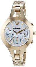 Emporio armani original chronograph AR7390 gold colour womens watch