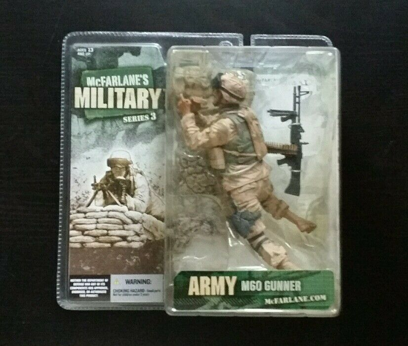 McFarlane Military Series 3 ARMY M60 GUNNER Figure Statue Desert Infantry