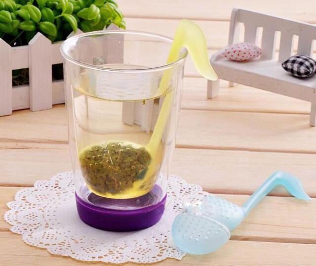 Music Note Style Tea Leaf Strainer Stirrer Spoon Filter Idea Gift Kitchen Tool