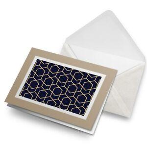 Greetings-Card-Biege-Abstract-Geometric-Pattern-2361