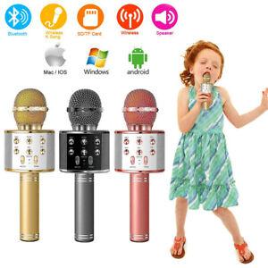 Wireless-Bluetooth-Karaoke-Mikrofon-Lautsprecher-Handheld-Mic-KTV-Microphone-USB