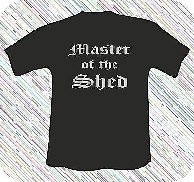 Sinnvoll Master Of The Shed Black T-shirt Um Zu Helfen, Fettiges Essen Zu Verdauen