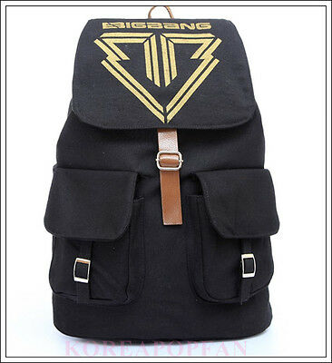 BIGBANG KPOP taeyang g-dragon daesung seungri CANVAS SCHOOL BAG BACKPACK NEW