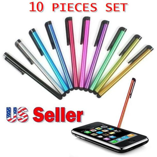 10 METAL UNIVERSAL STYLUS TOUCH SCREEN PEN for iPhone 4 5 6 7 8 iPod iPad /& more