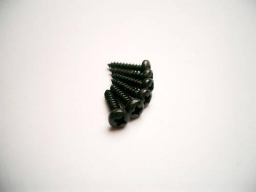 6 göldo Mounting Screws For Mechanics Black