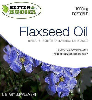 Aceite de lino 1000mg. Cápsulas Omega 3 6 9. Aceite de semillas de lino