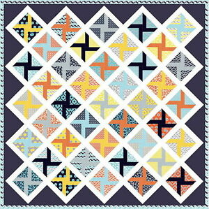 """MIXOLOGIE QUILT KIT -Makes a large 72"""" x 72"""" Quilt !! - Moda FABRIC by Studio M"""