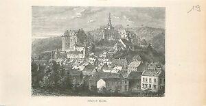 Abdij-van-Abbaye-de-Floreffe-Abbey-Namur-Wallonie-GRAVURE-ANTIQUE-OLD-PRINT-1880