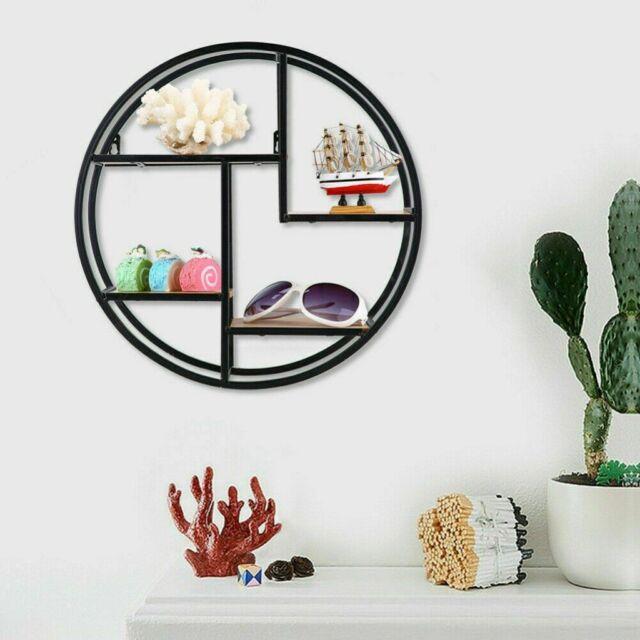 Iron 4-Layer Wall-Mounted Wall Shelf Storage Display Stand Home Decoration AU
