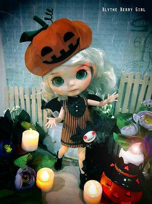 Halloween Jack-0-lantern Pumpkin cute devil outfit for Blythe