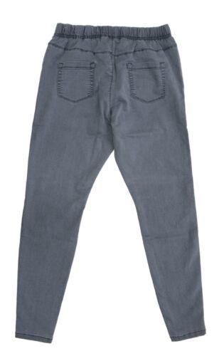Womens New Stretch Denim Jegging Grey Jean Ladies PLus Size