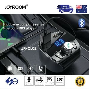 Bluetooth-Car-Kit-Joyroom-JR-CL02-FM-Transmitter-MP3-Player-and-USB-QC3-0-Charge