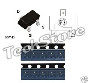 SB, 10 pezzi Transistor MOSFET BSS138 SMD Code J1 50V 220mA equivalente K38,SS