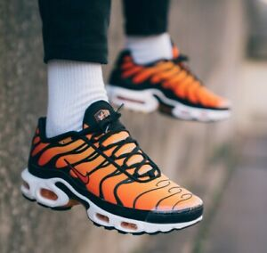 Détails sur Nike Air Max Plus OG AMT Sunset Noir Pimento Orange Tiger UK 7 11 EUR 41 46 afficher le titre d'origine