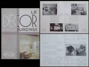 Analytique Decor D'aujourd'hui N°28 1938 Royere, Rene Gabriel, Alvar Aalto, Kohlmann, Prou Une Performance SupéRieure
