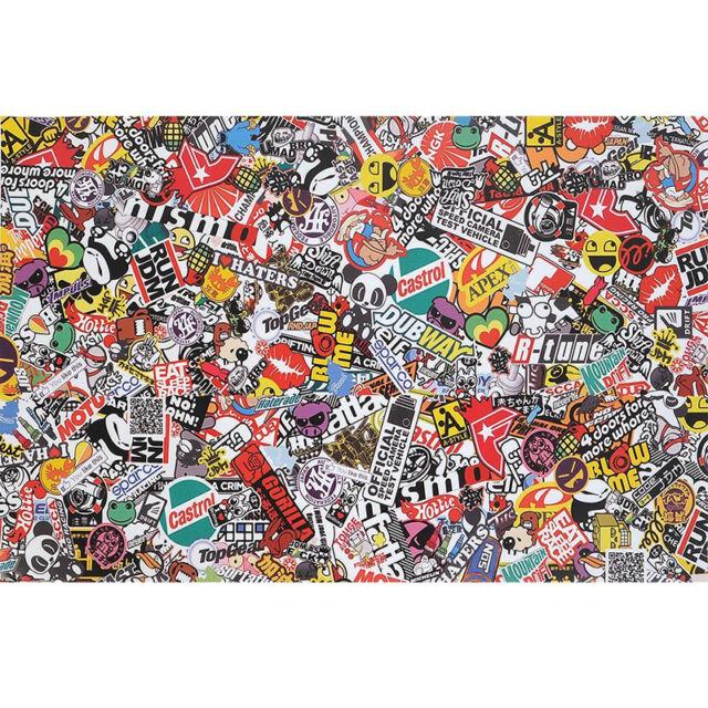 "20""x60"" Vinyl Car Auto Graffiti bomb Sticker Cartoon Motorcycle Decel sheet Kit"