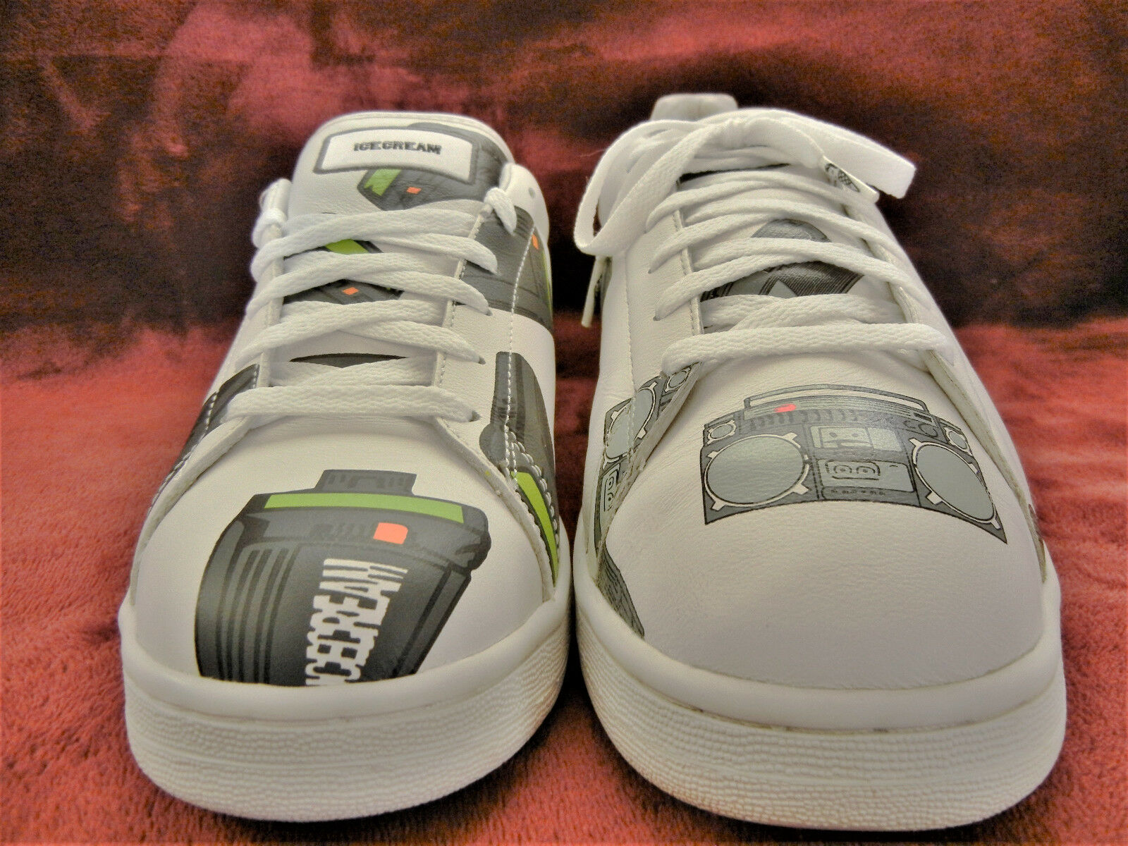 Reebok Ice Cream #BEEPER F/W 2006 JAPAN #Pager SIZE 8 WHT sneakers BBC #PHARRELL