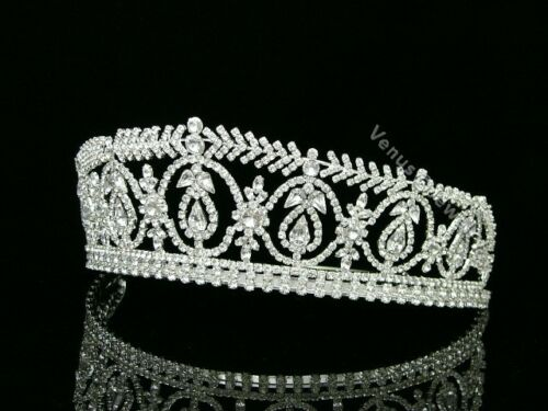 Stunning Bridal Pageant Rhinestone Crystal Prom Wedding Crown Tiara 8473