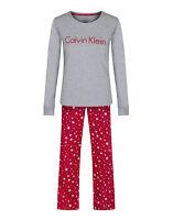 Calvin Klein Women's Pj's In A Box Pyjama Set - Luminous Stars/grey Heather