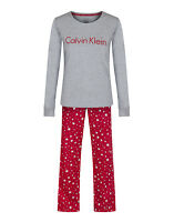 Calvin Klein Women's Pj's In A Box Pyjama Set - Luminous Stars/grey Heather