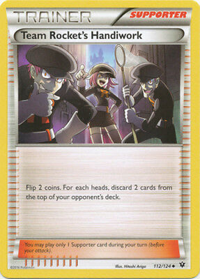Fates Collide 4x Team Rocket/'s Handiwork 112//124 Uncommon Pokemon XY