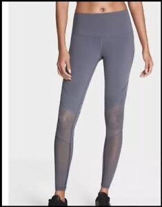 7e6c775bb730a NEW VICTORIA'S SECRET KNOCKOUT GRAY SPORT MESH TIGHT LEGGINGS PANTS ...