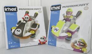 Knex Mario Kart Shy Guy and Wario Nintendo Lot of 2 New Sealed