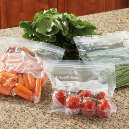FoodSaver FreshSaver 18 QUART-SIZED VACUUM ZIPPER BAGS VACUUM SEALING SYSTEM