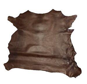 leather hides goat skins chrome tanned Black color 6  SQ FT