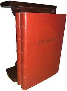 Giovanni-Boccaccio-DECAMERON-illustrato-Libro-di-pregio-Edizione-lusso-2-volumi