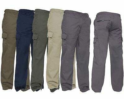 Brillant Brand New Mens Casual 100% Cotton Cargo Pocket Lightweight Combat Trousers Pants