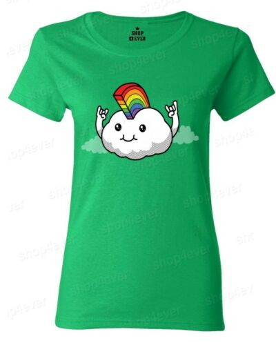 Rainbow Mohawk Cloud Women/'s T-Shirt Gay Pride Walk LGBTQ Love Wins Rock On Tees