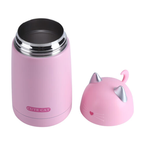 330ML Cat Mug Girls Thermos Cups Cute Thermal Coffee Vacuum Flask Drink Bottle