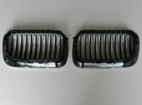 BMW 3 Series E36 1996-2000 par Rejilla Frontal Cromo//Negro Grill Juego de riñón