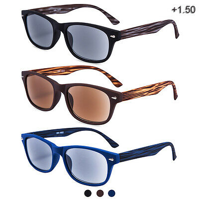 Sunglasses Reader Sports Outdoor Reading Glasses Unisex Classic Stylish 3 Pairs