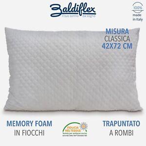 Cuscino Memory Foam Per Cervicale.Dettagli Su Cuscino Memory Foam Fiocco Trapuntato A Rombi Guanciale Cervicale Letto E Divano